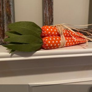 Easter Fabric Carrots with green felt for tops